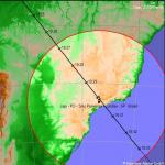 Estação Espacial Passagem sobre São Paulo